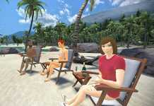 VTime  - Red social virtual - Escenario en playa