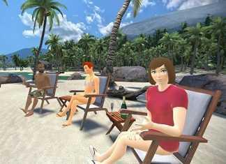 VTime  - Red social virtual - Escenario en playa