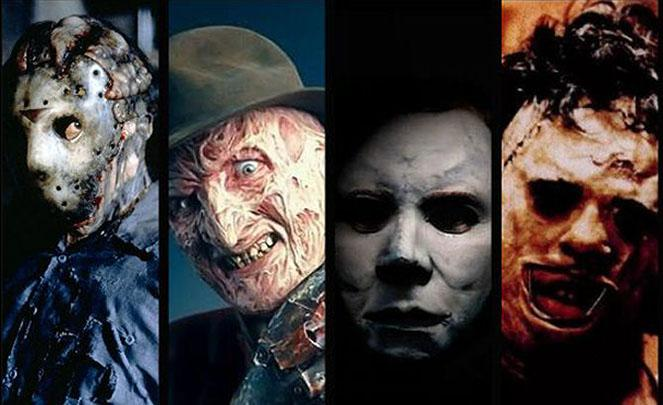 Death House - Jason - Freddy - Michael Myers - leatherface - Iconos de terror de los 80