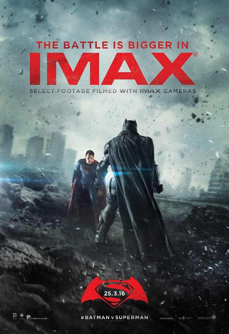 Poster IMAX y trailer final Batman v Superman - 23 Marzo 2016