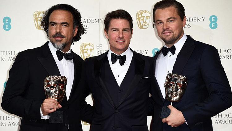 Premios Bafta 2016 - Alejandro Gonzalez Iñarritu y DiCaprio ganadores , acompañados de Tom Cruise