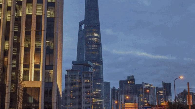El time lapse de La Torre de Shanghai