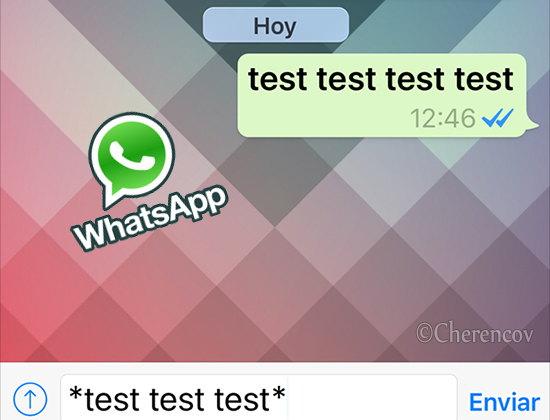 escribir negrita en whatsapp