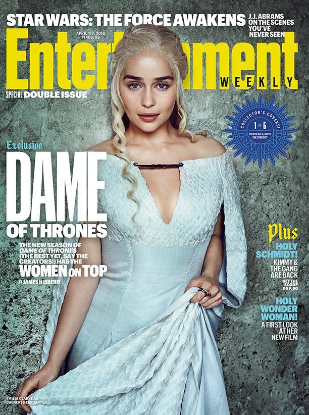 Mujeres protagonistas en portadas EW de la serie Juego de Tronos - Emilia Clarke (Daenerys Targaryen)