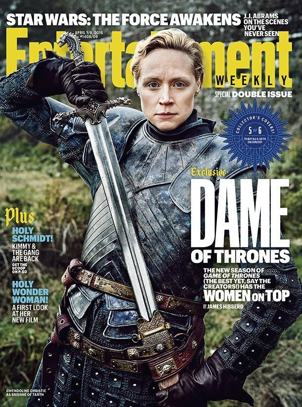 Mujeres protagonistas en portadas EW de la serie Juego de Tronos - Gwendoline Christie (Brienne de Tarth)