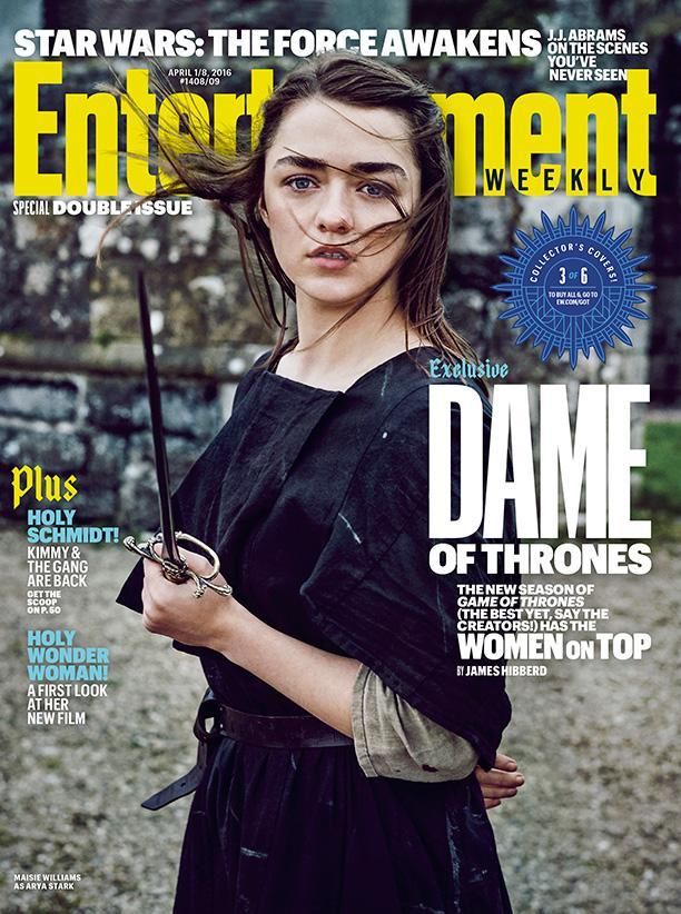 Mujeres protagonistas en portadas EW de la serie Juego de Tronos - Maisie Williams (Arya Stark)