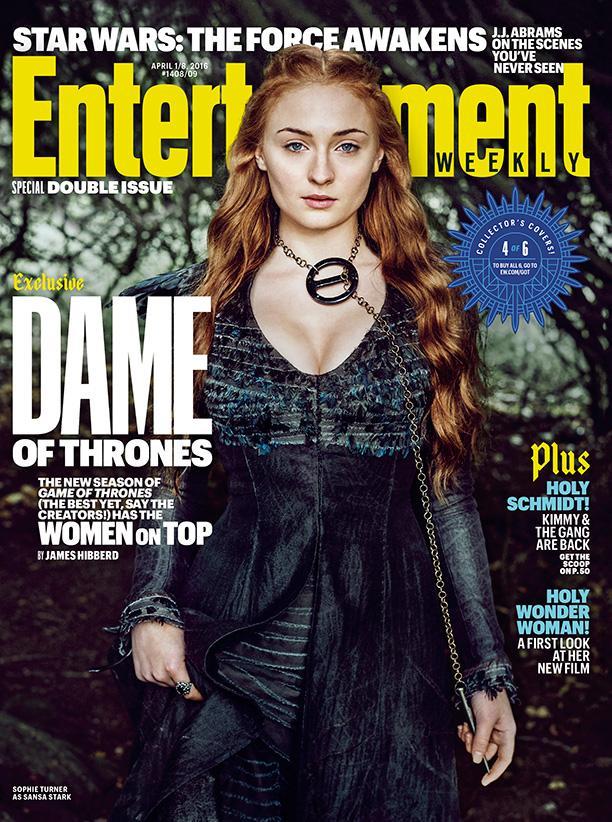 Mujeres protagonistas en portadas EW de la serie Juego de Tronos - Sophie Turner (Sansa Stark)