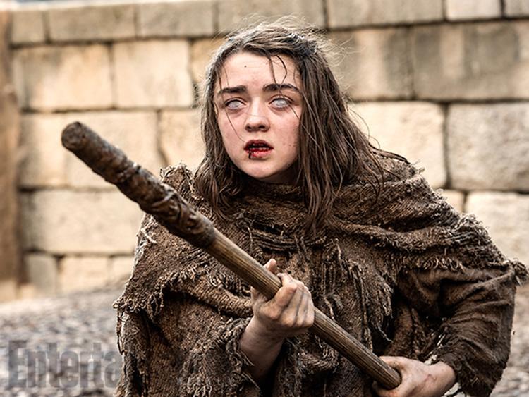 Nuevas imagenes de la temporada 6 de Juego de Tronos - Arya (Maisie Williams) ciega