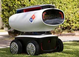 Robot que reparte pizza a domicilio en Australia - DRU