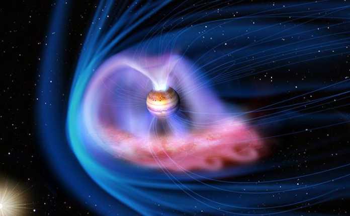 Tormentas solares provocan auroras intensas en Júpiter - Arte conceptual