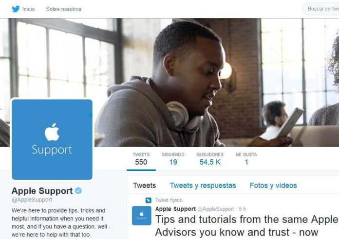 soporte tecnico apple en twitter