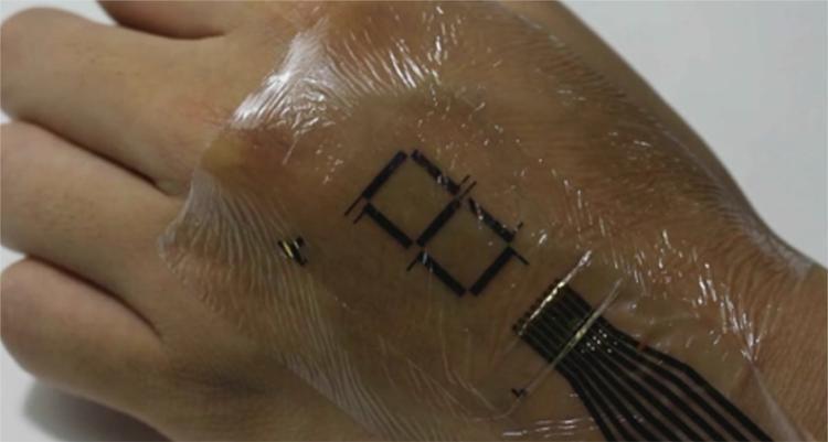 Tatuaje electrónico convierte su piel en una pantalla