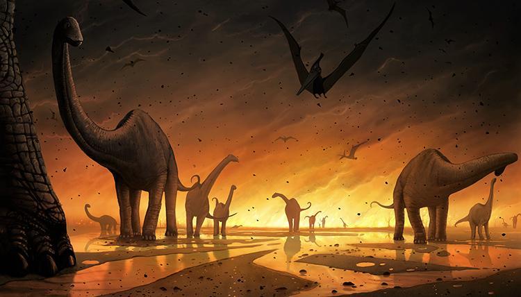 Los dinosaurios comenzaron a extinguirse antes de la llegada del meteorito