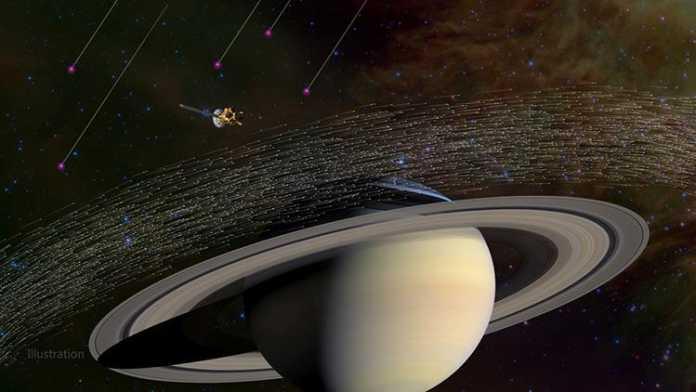 Muestras de polvo interestelar diferentes cerca de Saturno