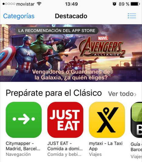 Descargar aplicaciones gratis para iPhone