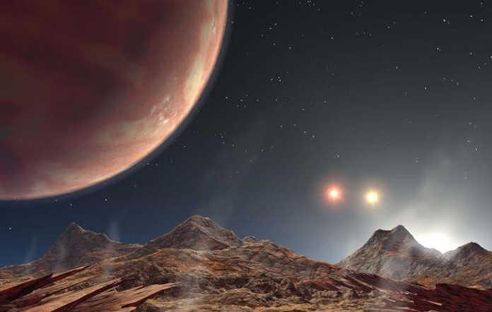 Descubierto extraño planeta en un sistema de tres soles