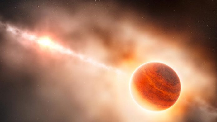Joven exoplaneta encontrado cerca de su estrella