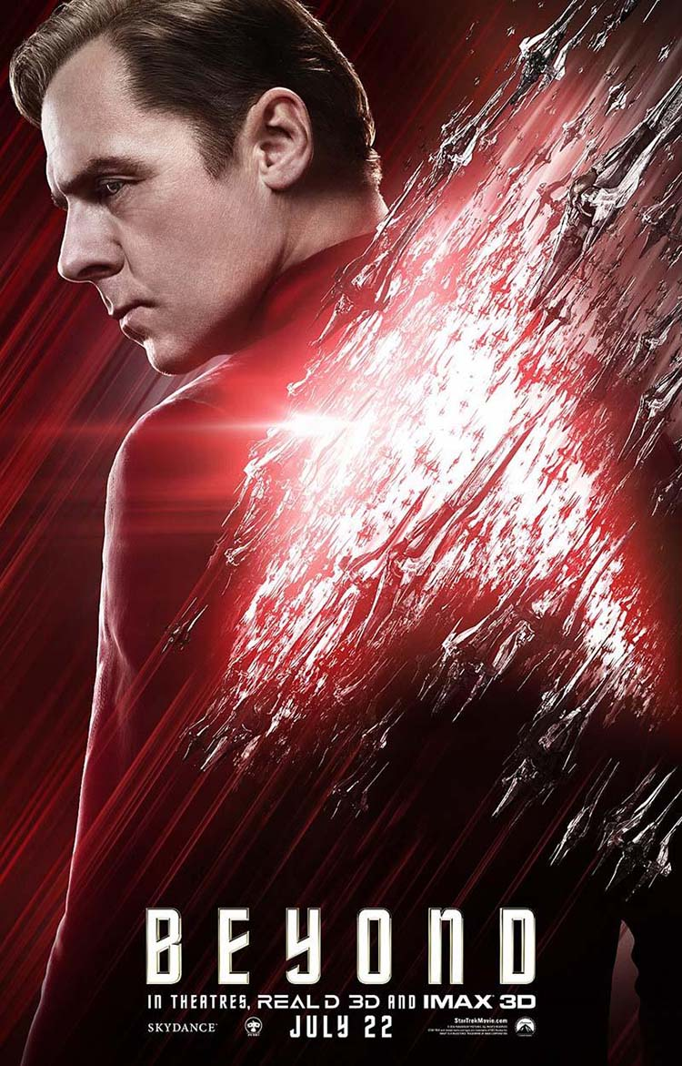 Star Trek Beyond posters oficiales de personajes Scotty