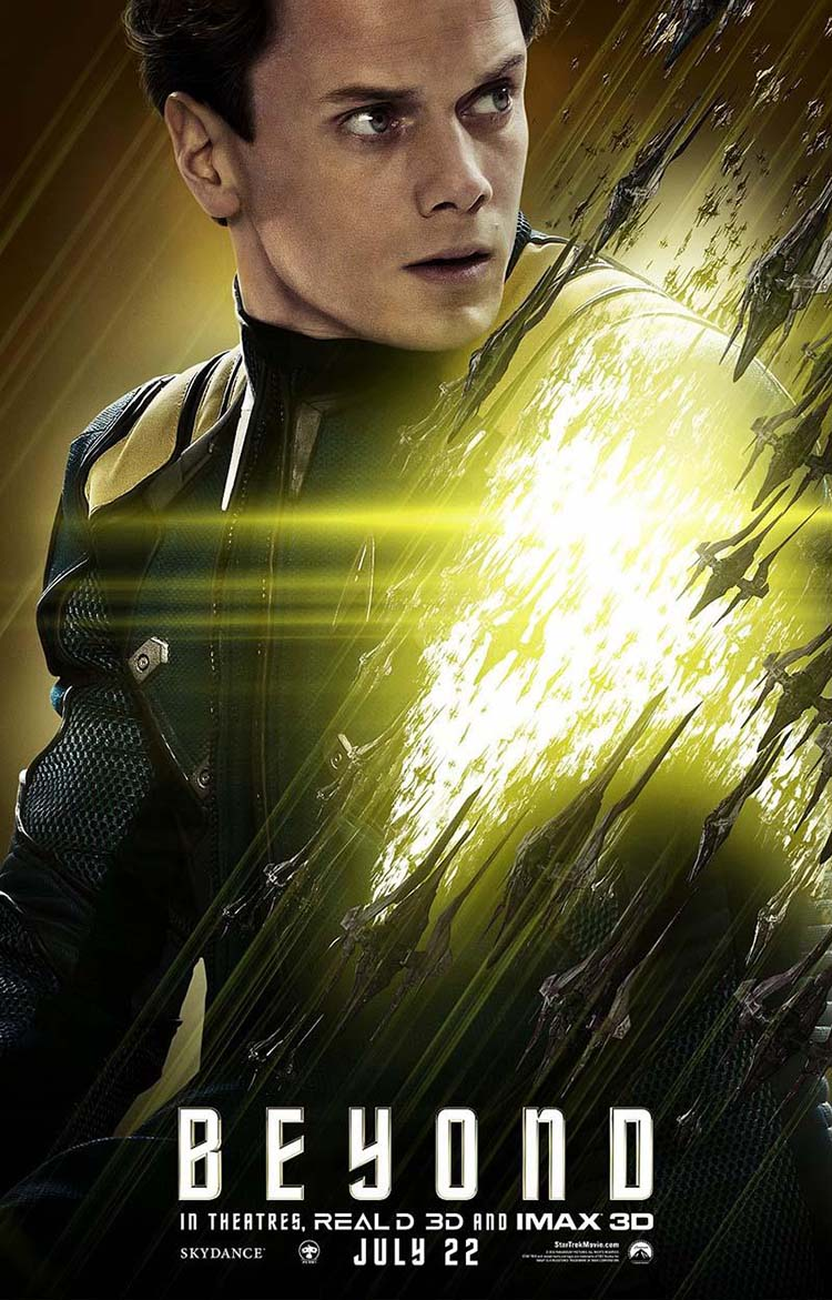 Star Trek Beyond posters oficiales de personajes Chekov