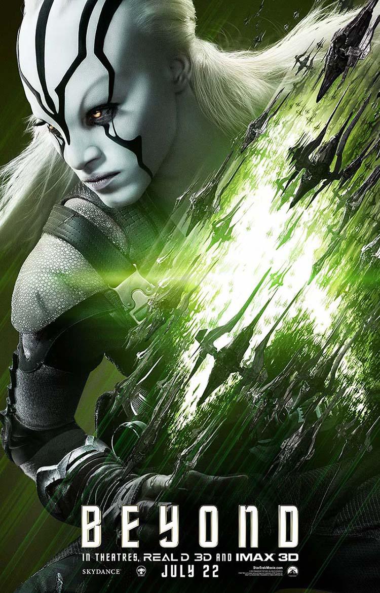 Star Trek Beyond posters oficiales de personajes Jaylah Star