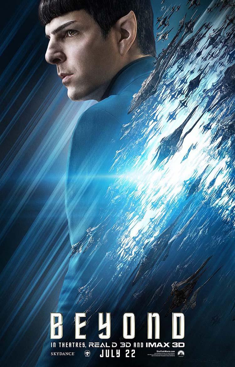 Star Trek Beyond posters oficiales de personajes Spock