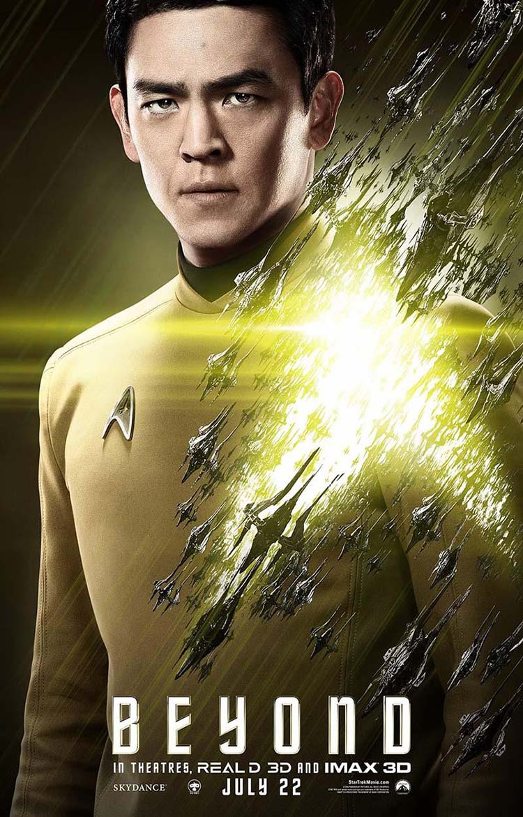Star Trek Beyond posters oficiales de personajes Sulu