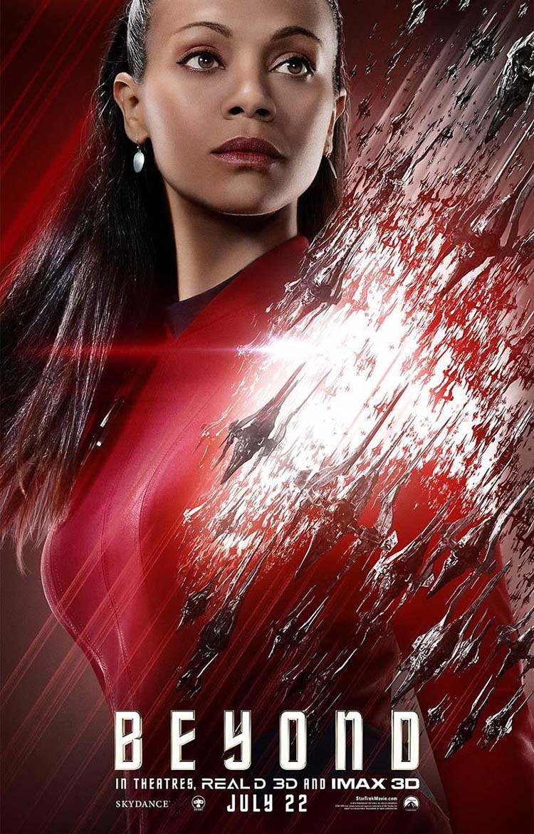 Star Trek Beyond posters oficiales de personajes Uhura