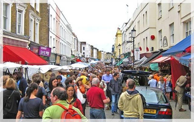 viajar a Londres - Notting Hill y el mercadillo de Portobello