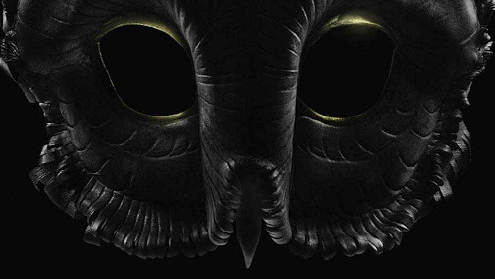 Gotham temporada 3 póster sobre la Corte de los Búhos máscara
