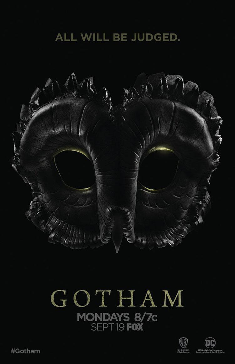 Gotham temporada 3 póster sobre la Corte de los Búhos