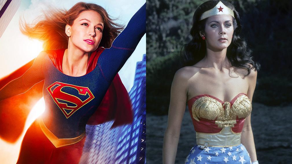 Supergirl temporada 2 foto de rodaje con Lynda Carter como POTUS