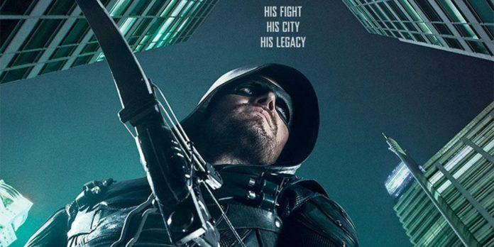 'Arrow' temporada 5 póster con el lema su lucha, su ciudad, su legado 01