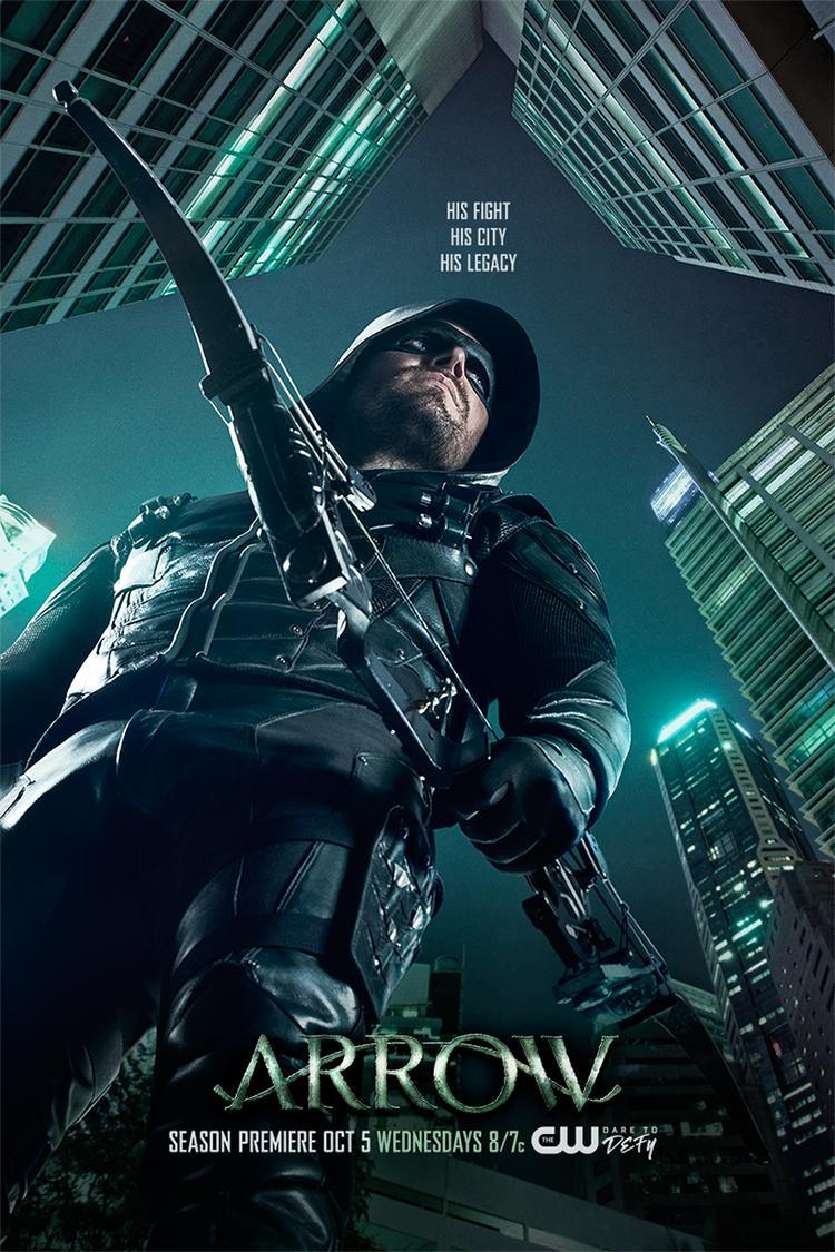 'Arrow' temporada 5 póster con el lema su lucha, su ciudad, su legado 02