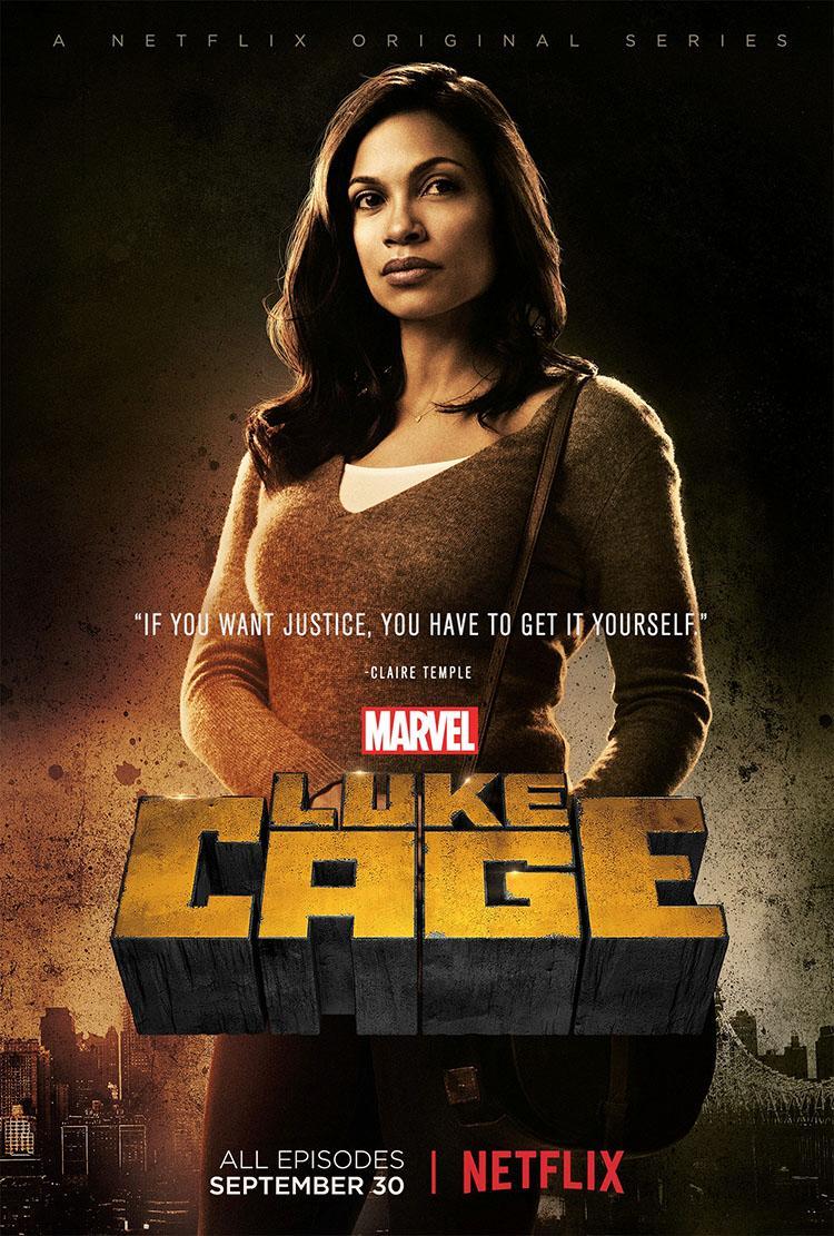 Luke Cage temporada 1 posters de los personajes principales Rosario Dawson como Claire Temple