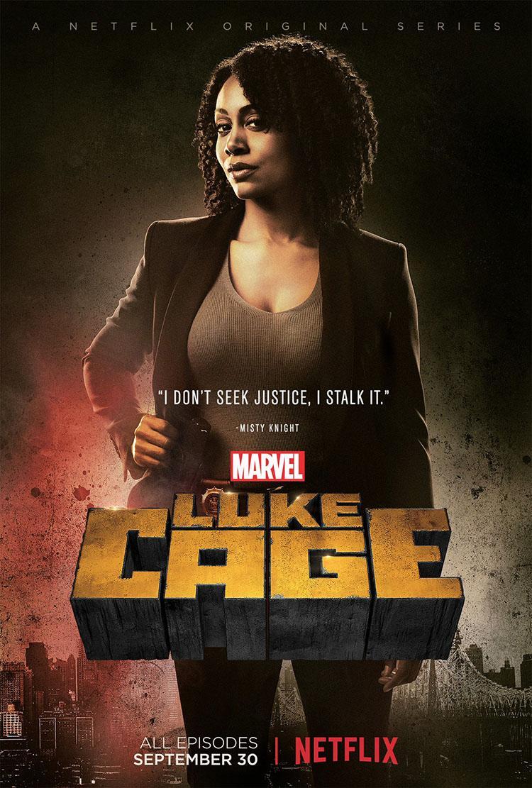 Luke Cage temporada 1 posters de los personajes principales Simone Missick como Misty Knight