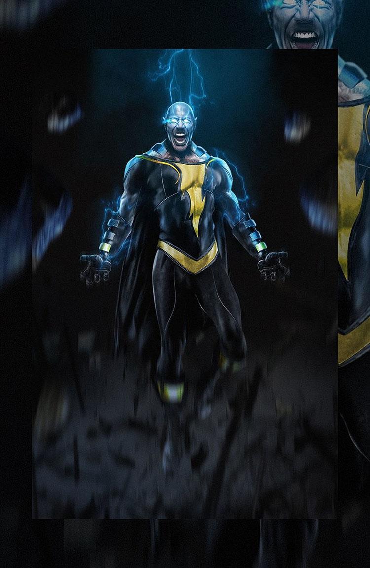 'Shazam' película de la DC así se vería Dwayne Johnson como Black Adam 01