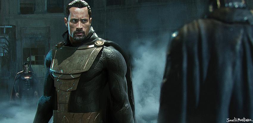 'Shazam' película de la DC así se vería Dwayne Johnson como Black Adam por Juan Hugo Martinez