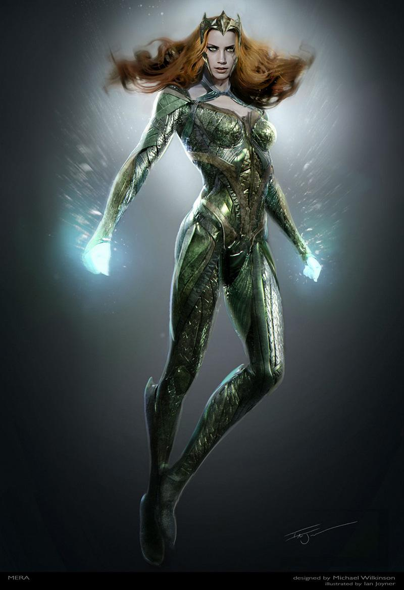 'La Liga de la Justicia' primera imagen de Amber Heard como Mera - Arte Conceptual