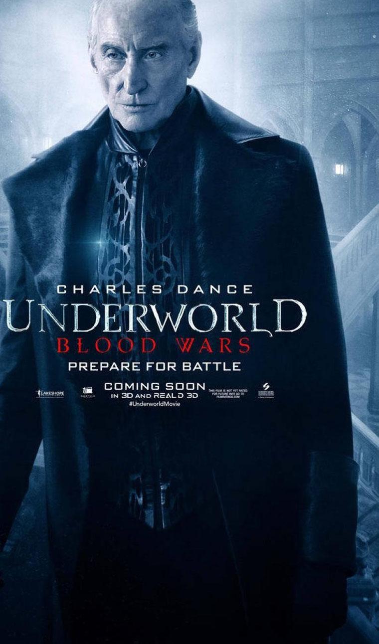 'Underworld Blood Wars' posters de Selene y otros personajes - Charles Dance como Thomas