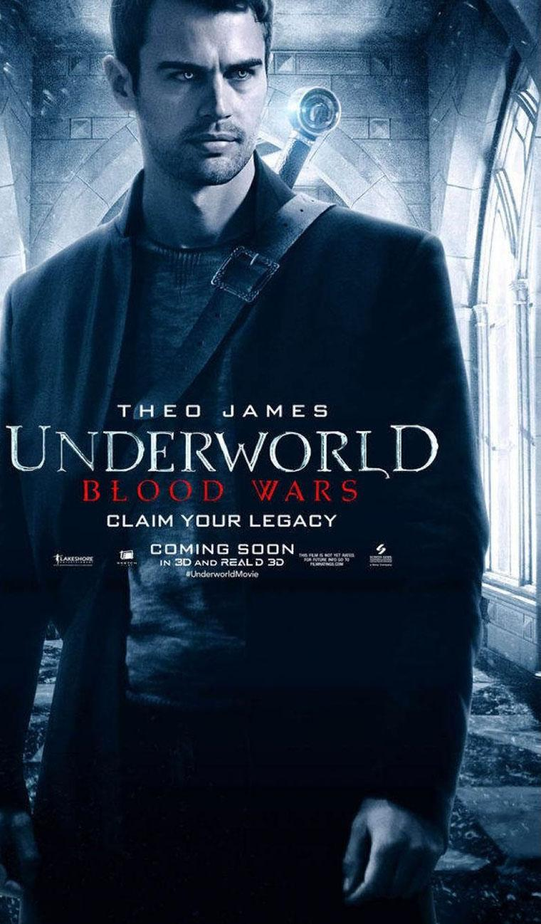 'Underworld Blood Wars' posters de Selene y otros personajes - Theo James como David