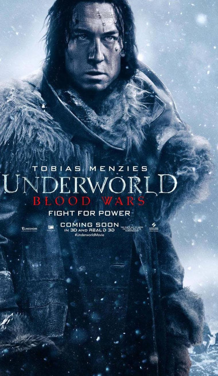 'Underworld Blood Wars' posters de Selene y otros personajes - Tobias Menzies como Marius