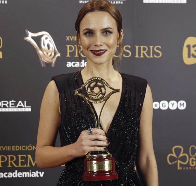 Premios Iris 2016 'El Ministerio del Tiempo' y 'El Hormiguero' grandes triunfadores - Aura Garrido (El Ministerio del Tiempo)