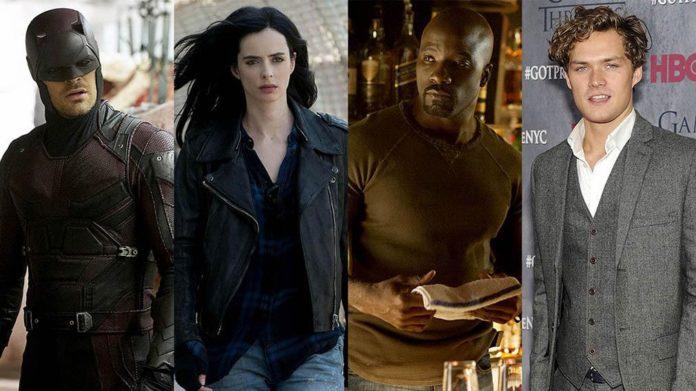 ''Los Defensores' Daredevil y Jessica Jones formando equipo