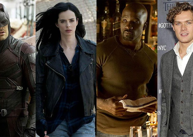 ''Los Defensores' Daredevil y Jessica Jones formando equipo