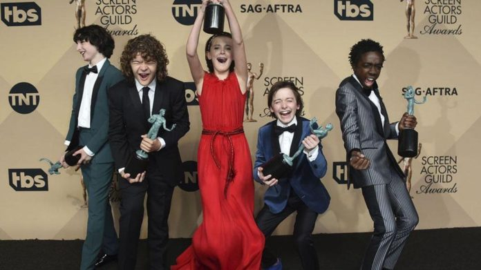 Lista de ganadores de los SAG Awards 2017 con 'Stranger Things' y 'La La Land' - Elenco de 'Stranger Things'