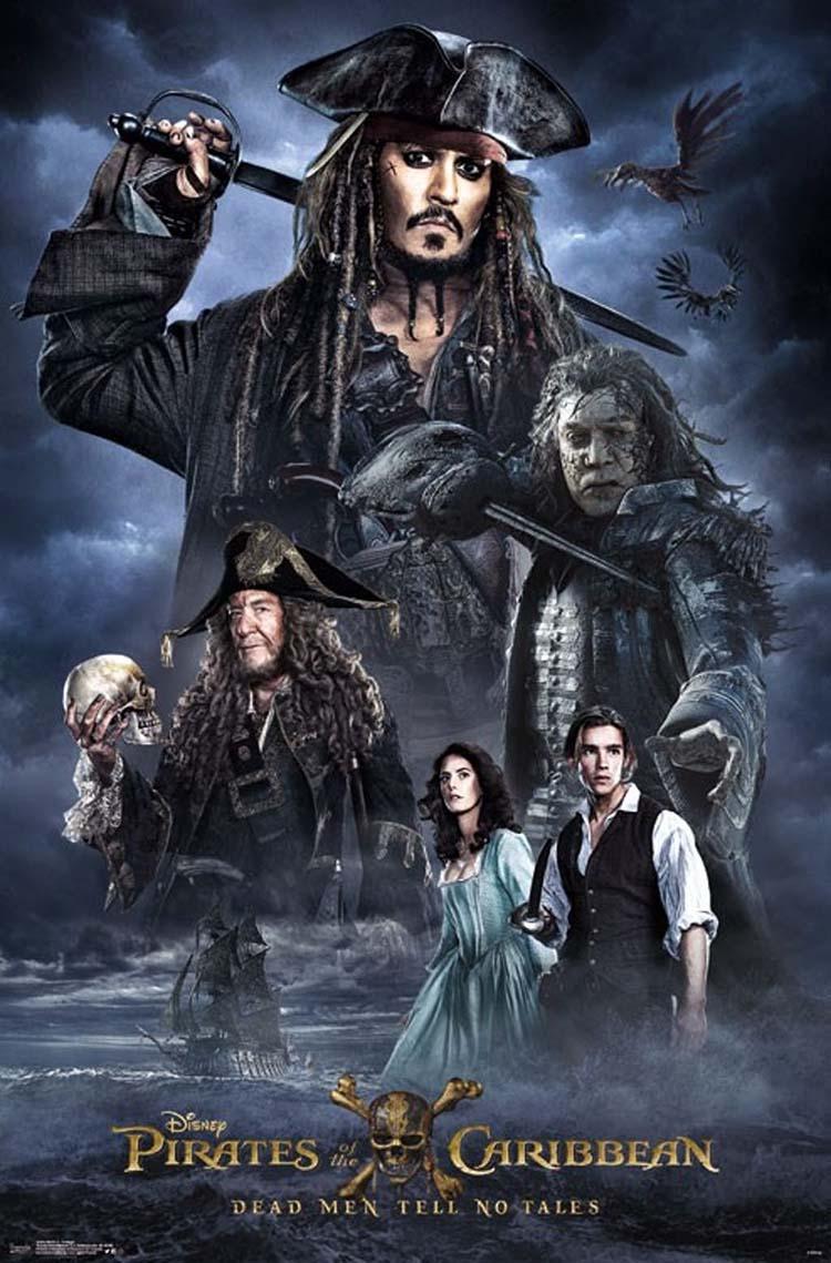Piratas del Caribe 5. Posters de la película con Jack Sparrow y los nuevos héroes - Johnny Depp como Jack-Sparrow