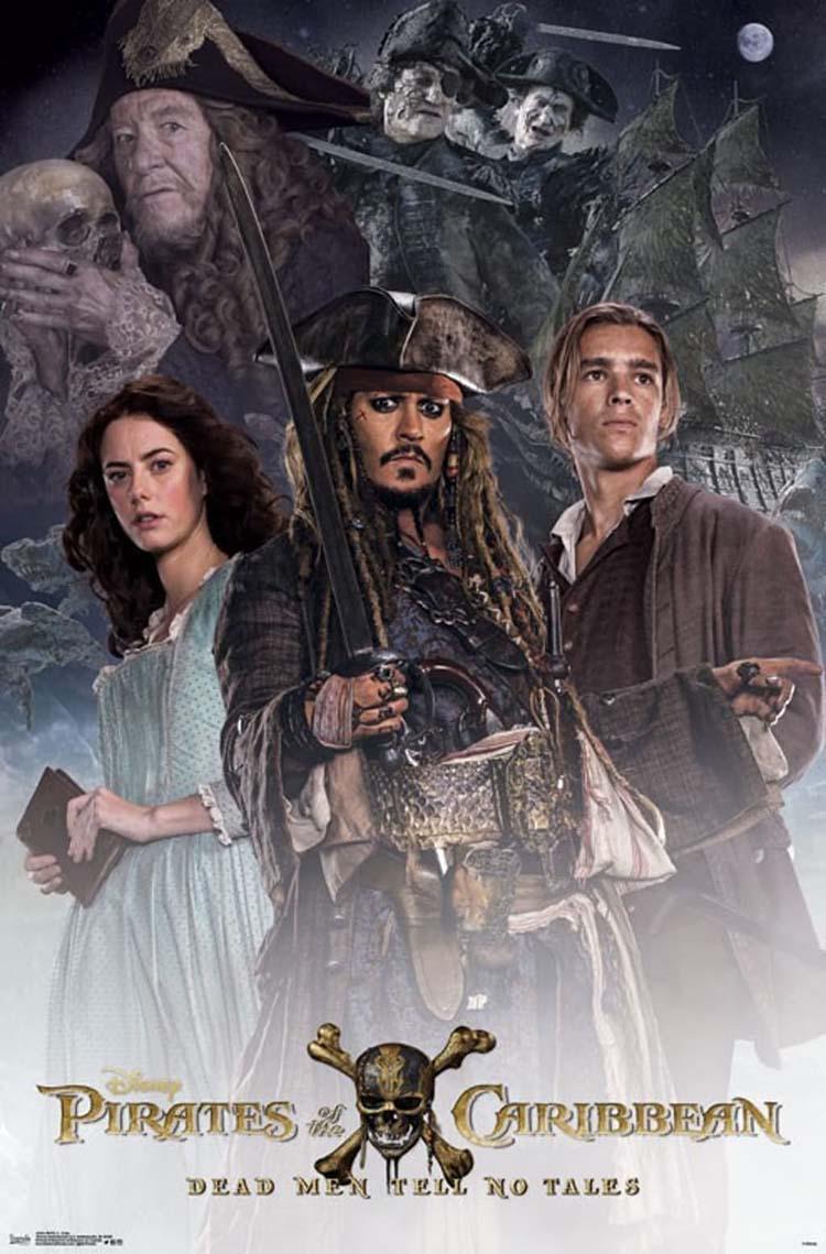Piratas del Caribe 5. Posters de la película con Jack Sparrow y los nuevos héroes - Johnny Depp