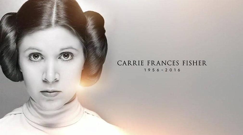 Homenaje a Carrie Fiher en el 40 aniversario de Star Wars