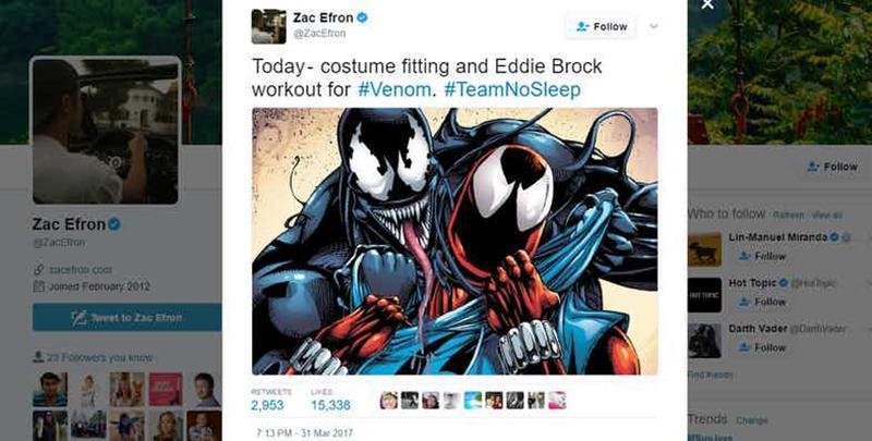Zack Efron podría interpretar a Eddie Brock en la película 'Venom'