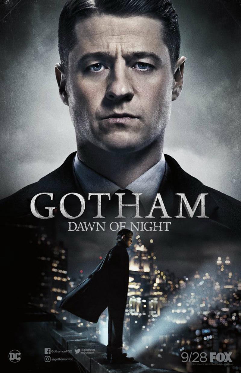 El amanecer del joven Batman en la temporada 4. de Gotham - Comic-Con-Póster